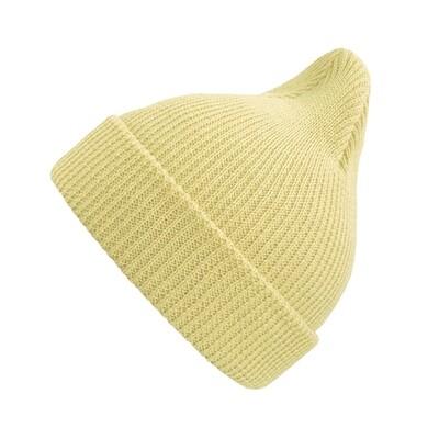 Хлопковая шапка ko-ko-ko пастельно-жёлтая (*baby size)