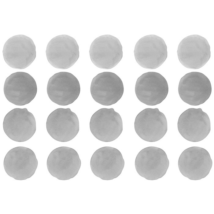 Интерьерная наклейка Watercolor Polka Dots — серый