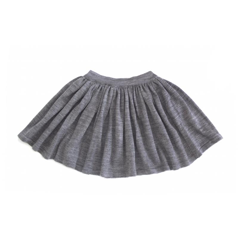 Вязаная юбка серая меланж
