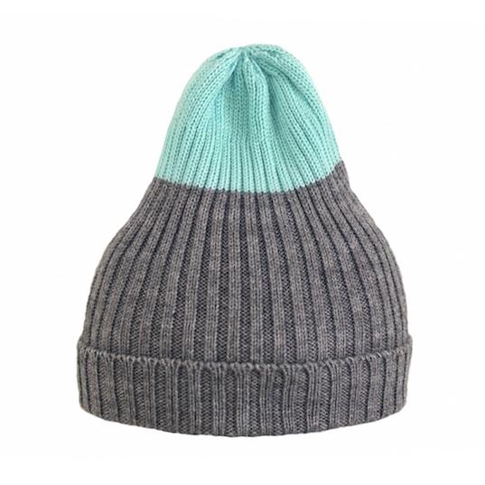 Двухцветная шапка Tamanegi серая/бирюзовая
