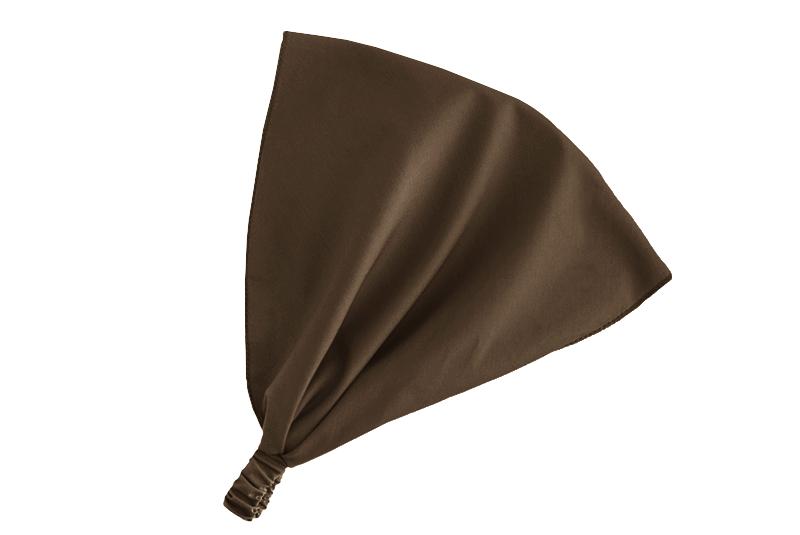 Косынка на резинке коричневая