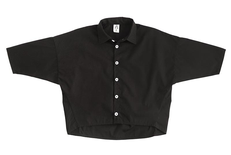 Рубашка унисекс чёрная