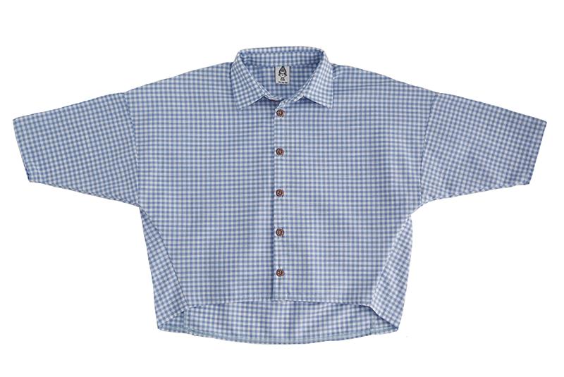 Рубашка унисекс в голубую клетку