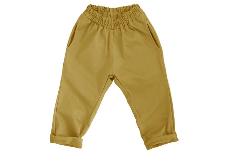 Штаны унисекс горчично-жёлтые