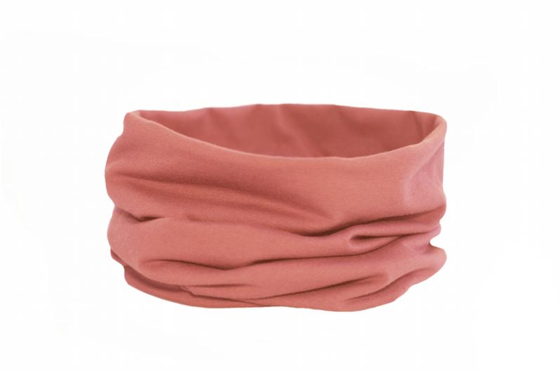 Трикотажный снуд розово-коралловый