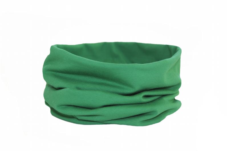 Трикотажный снуд зелёный