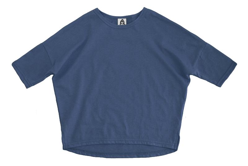 Лонгслив унисекс пыльно-синий