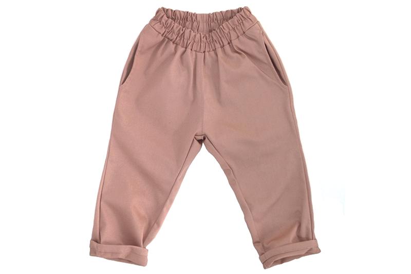 Штаны унисекс пыльно-розовые