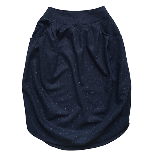 Взрослая юбка шерстяная синяя