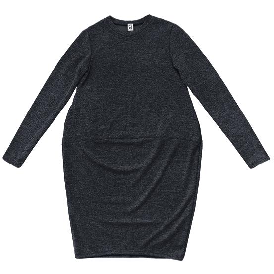 Трикотажное платье антрацит
