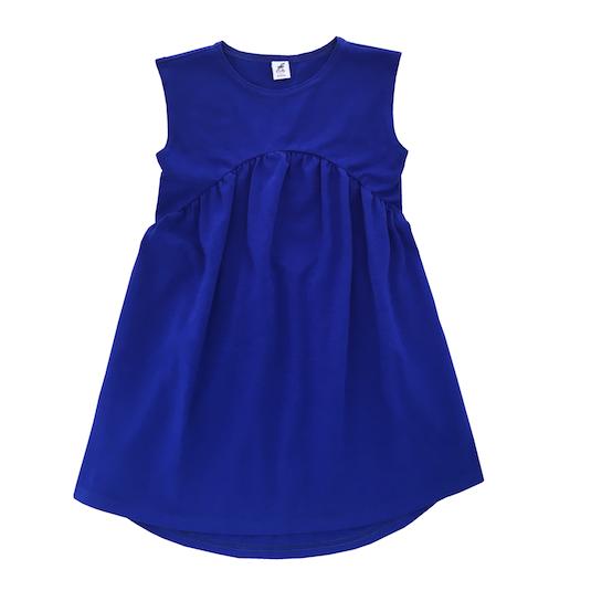 Трикотажное платье васильковое