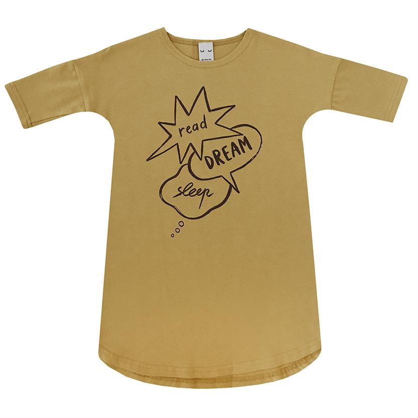 Детская сорочка горчичная