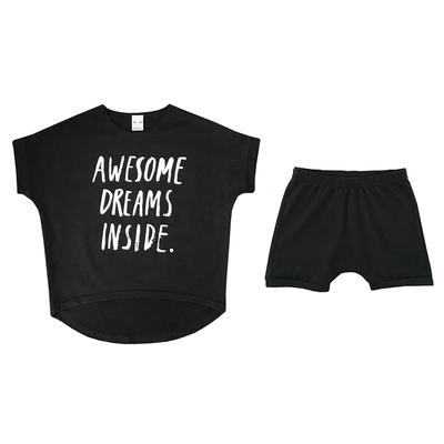 Детская пижама черная