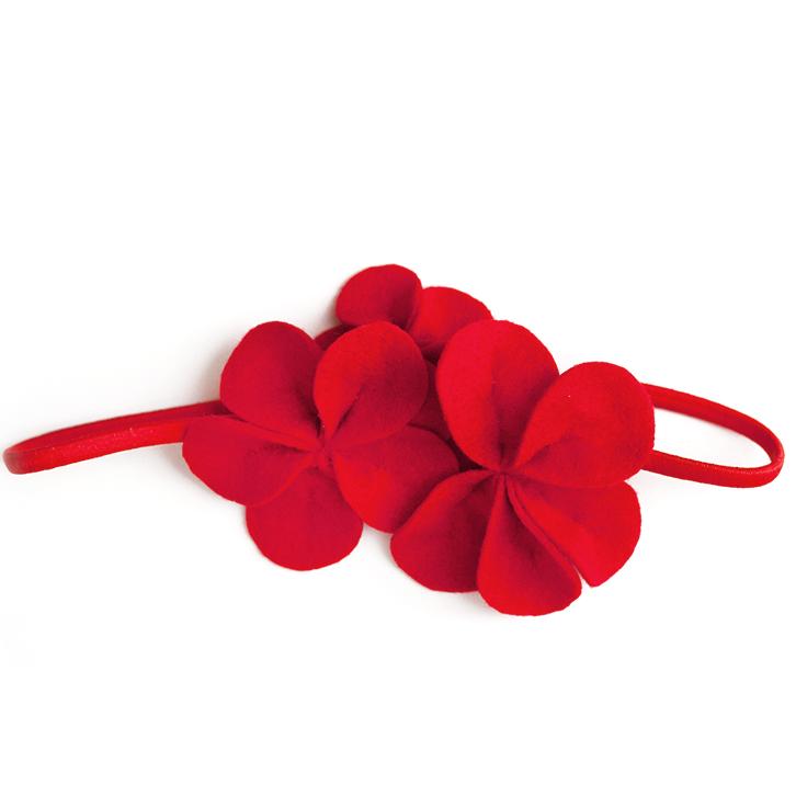 Фетровое украшение — красное