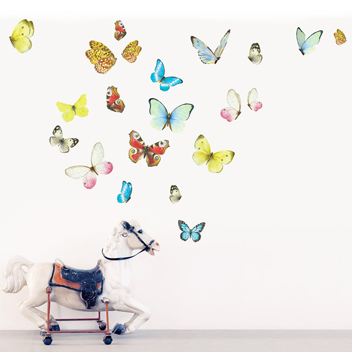 Интерьерная наклейка «Бабочки 21шт» размер L