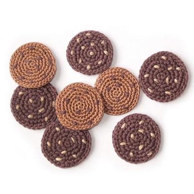 Вязаное круглое печенье