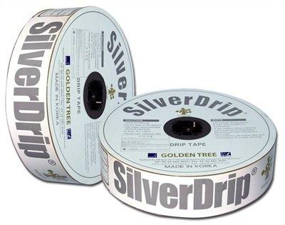 Лента капельная Silver Drip (Корея) 16-6mil- 1,0л/ч-20см