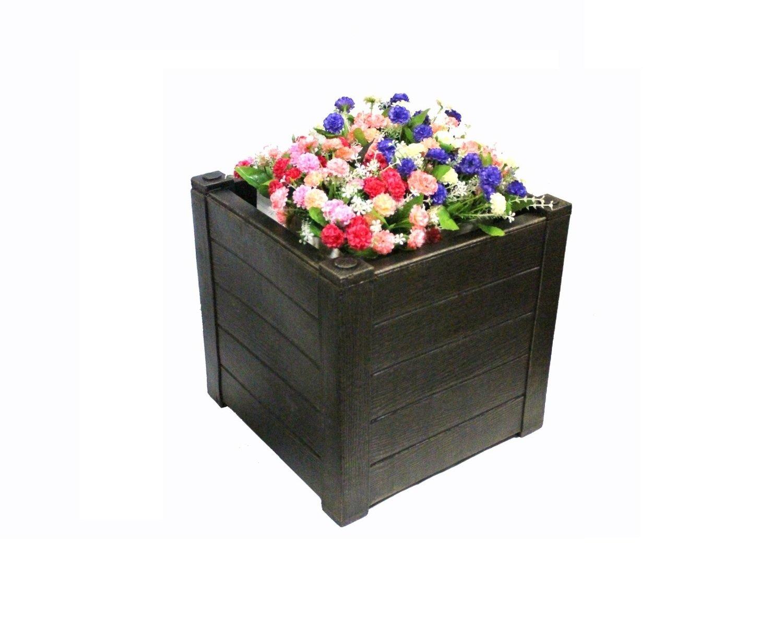 Маленький пластиковый ящик для растений (TEAK S)