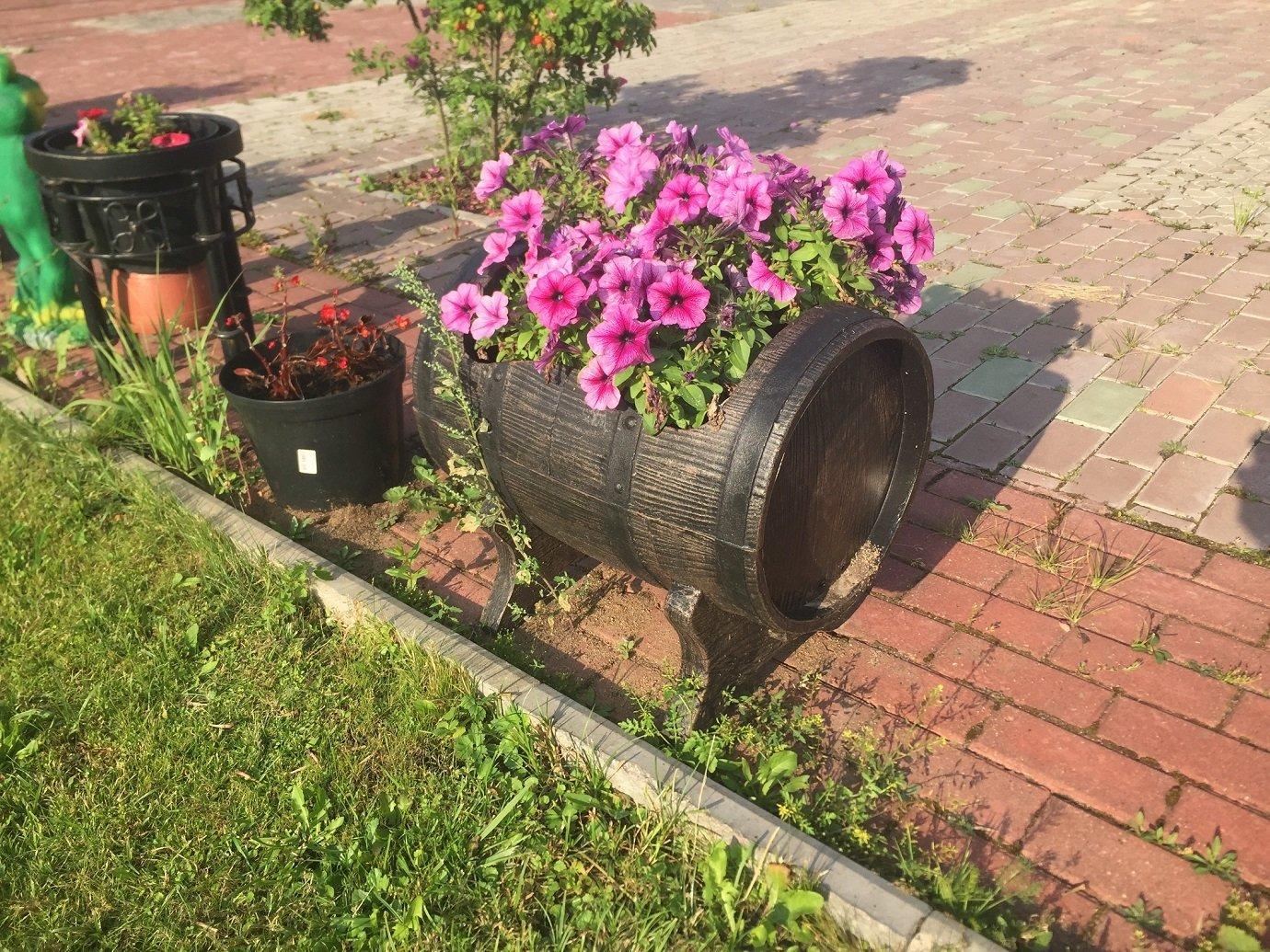Боченок для растений (PLANTER SALSA L)