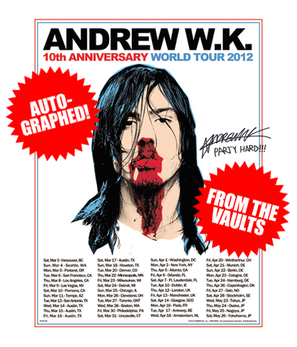 AUTOGRAPHED Limited Edition Screen Printed 2012 World Tour Poster