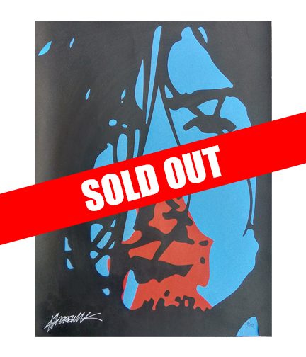 Hand Numbered AUTOGRAPHED Screen Printed Poster ONE-OFF!