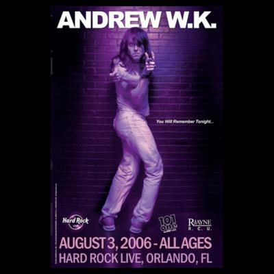 RARE! Orlando 2006 Concert Poster