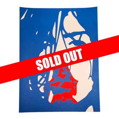 Hand Numbered AUTOGRAPHED Screen Printed Poster BLUE