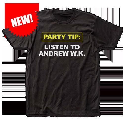 LISTEN TO ANDREW W.K.