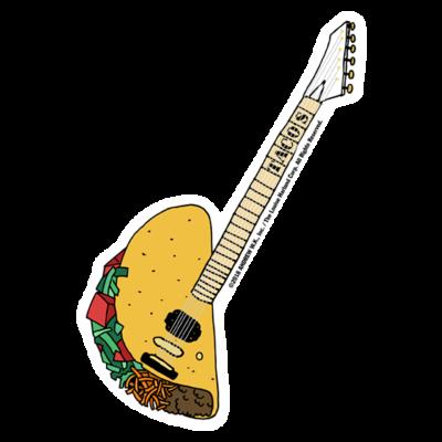 Taco Guitar Sticker