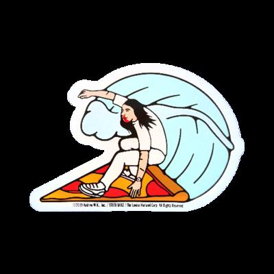 Pizza Surfer Sticker