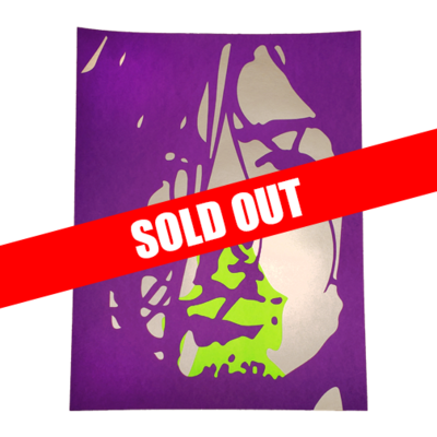Hand Numbered AUTOGRAPHED Screen Printed Poster PURPLE