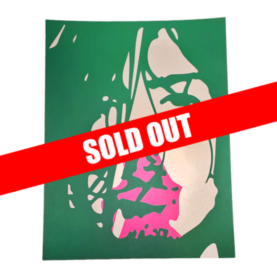 Hand Numbered AUTOGRAPHED Screen Printed Poster GREEN