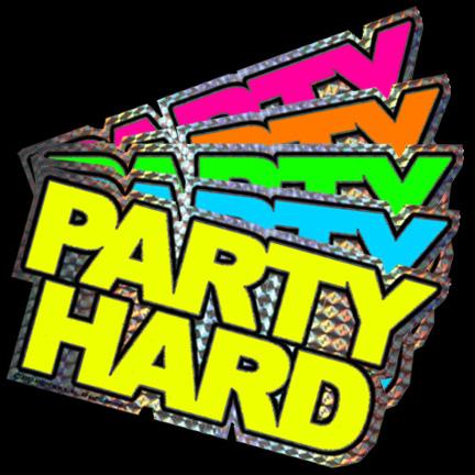 Party Hard 5 Pack Sticker Set