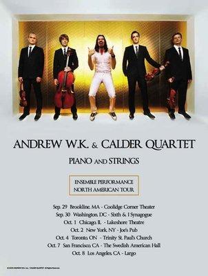 Andrew w/ Calder String Quartet Tour Poster