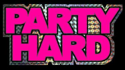 Pink Party Hard Sticker