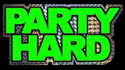 Green Party Hard Sticker