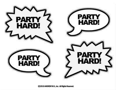Party Hard Balloon Sticker Set