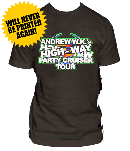 Highway Party Cruiser Tour Shirt - Black