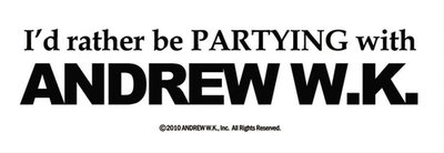 I'd Rather Be Partying - Bumper Sticker