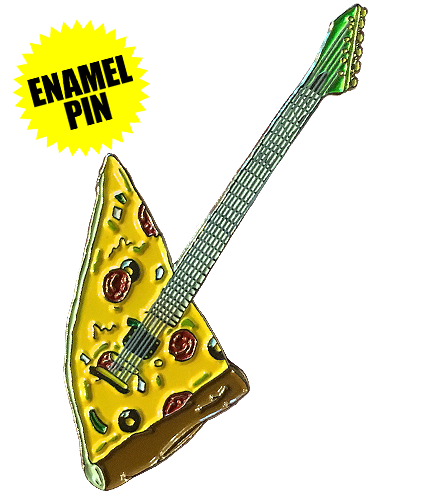Pizza Guitar Enamel Pin