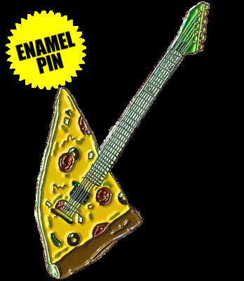Pizza Guitar Enamel Pin