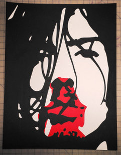 Hand Numbered AUTOGRAPHED Screen Printed Poster BLACK