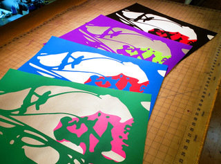 Hand Numbered AUTOGRAPHED Screen Printed 4 Poster Set