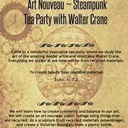 Victorian Art Steampunk Tea Party with  Stephen Crane - Live Zoom Tea Party