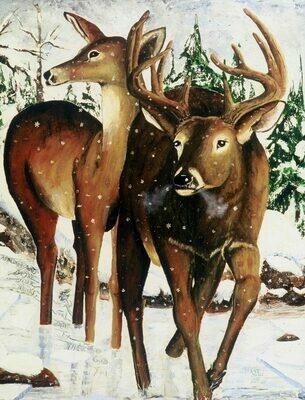Deer in Winter (Print)