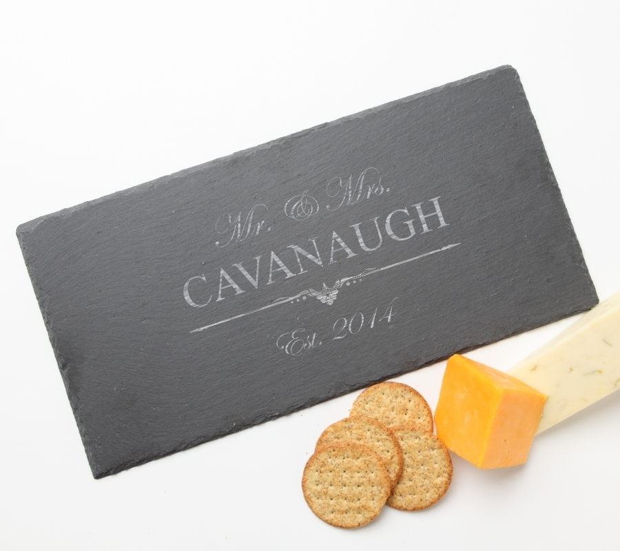 Personalized Slate Cheese Board 15 x 7 DESIGN 19