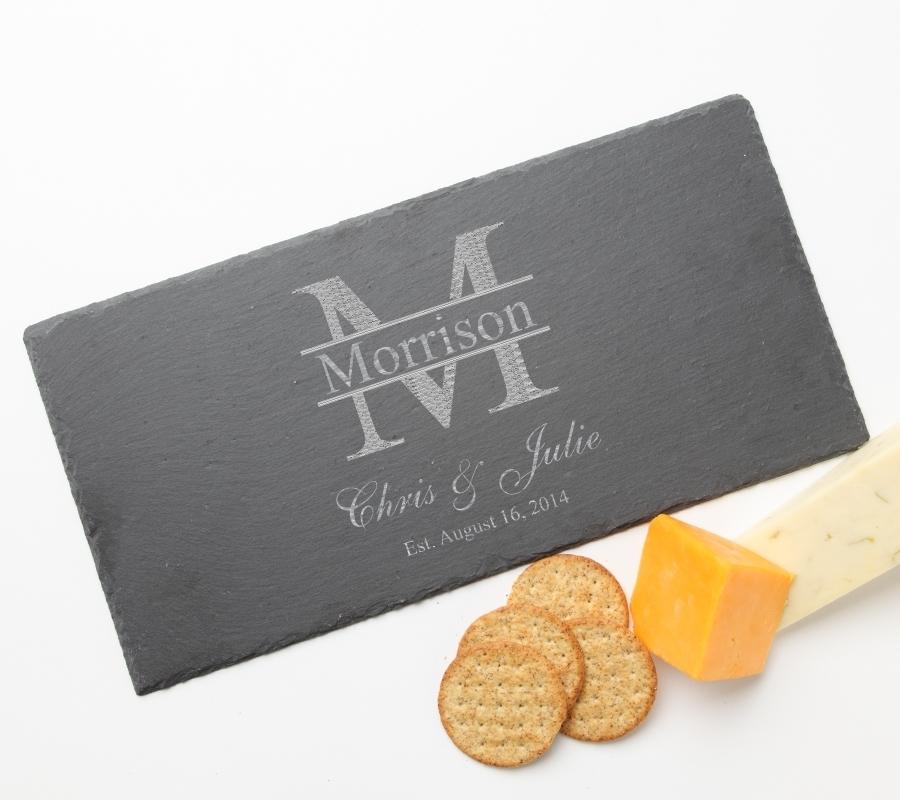 Personalized Slate Cheese Board 15 x 7 DESIGN 24