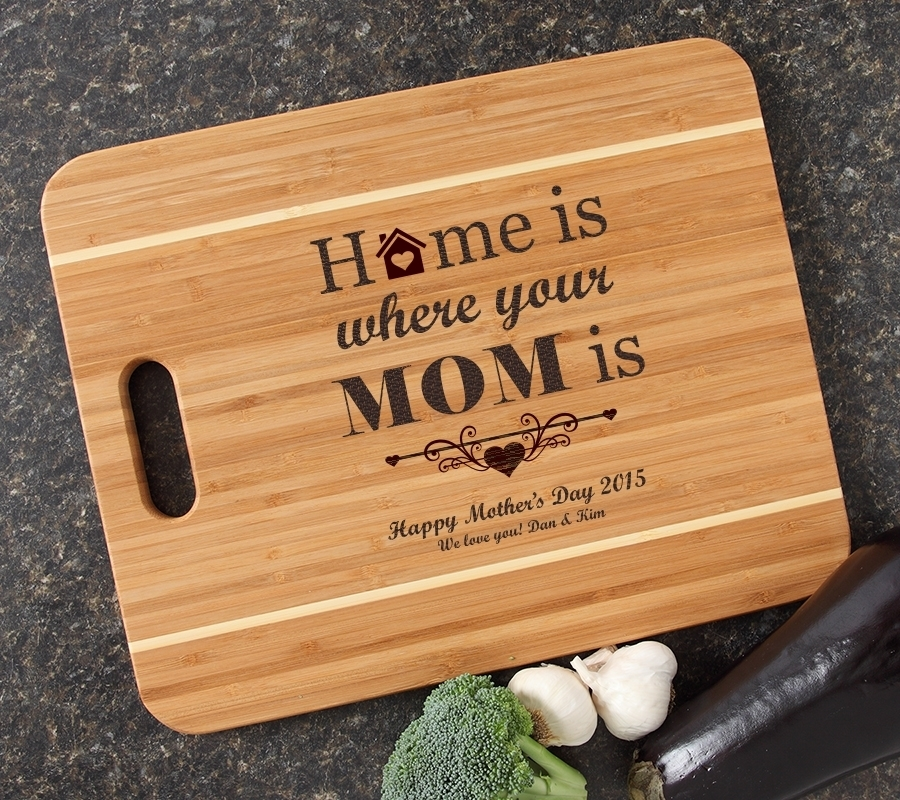 Personalized Cutting Board Engraved 15x12 Handle DESIGN 42