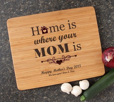 Engraved Bamboo Cutting Board Personalized 15x12 DESIGN 42