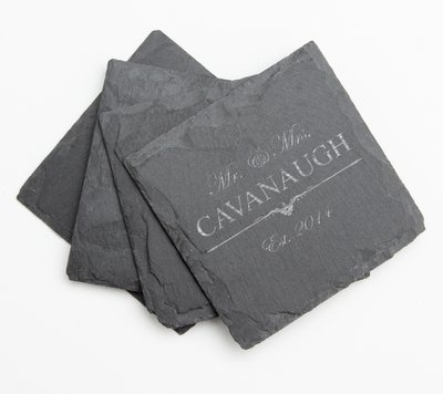 Personalized Slate Coasters Engraved Slate Coaster Set DESIGN 19